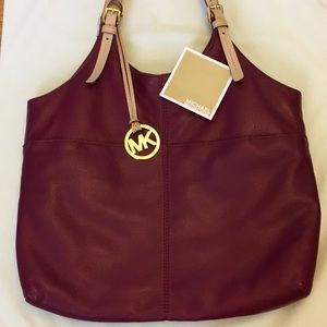MICHAEL, MICHAEL KORS LEATHER SHOULDER BAG